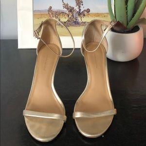 Banana Republic Gold Strappy Sandals